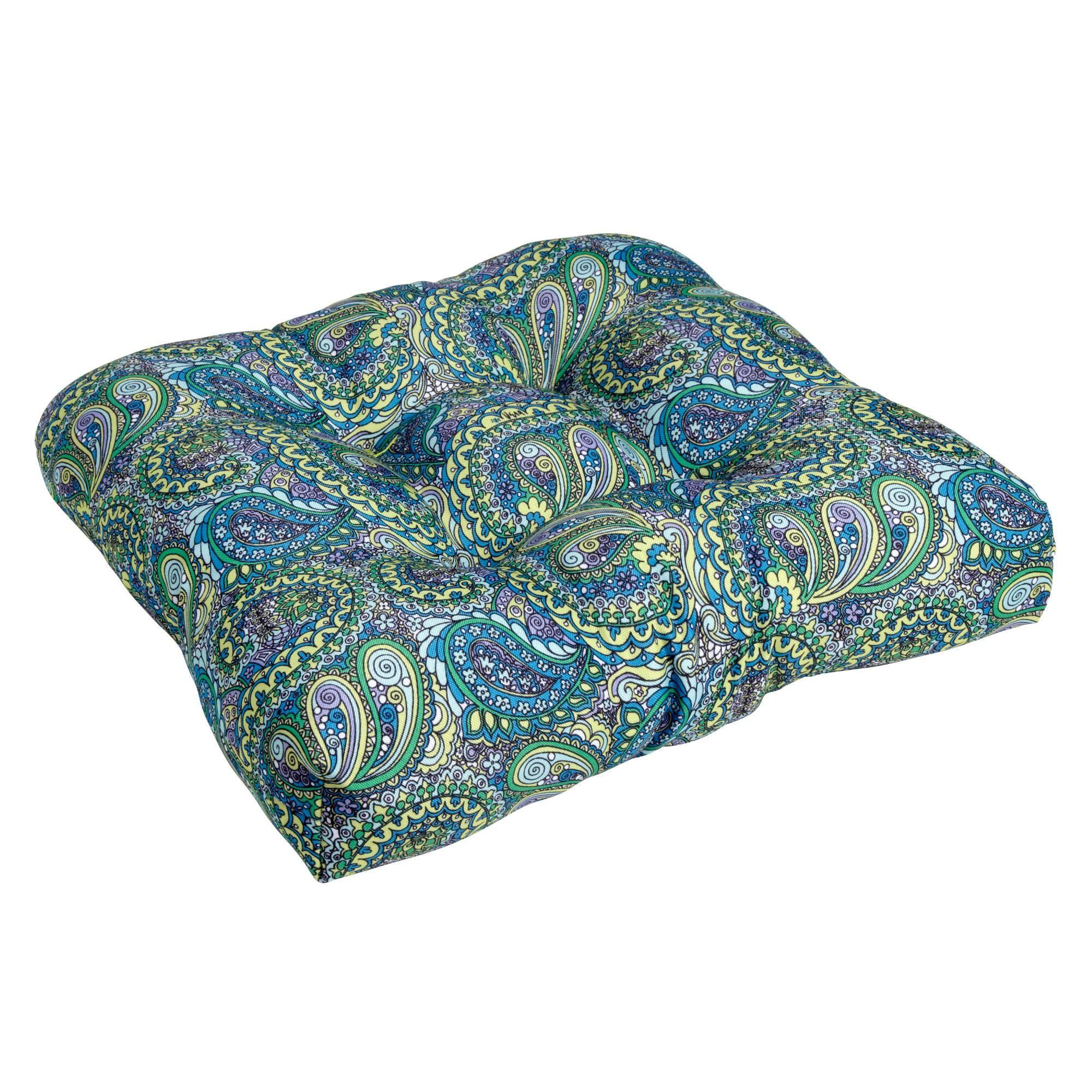 Vera® Blue Paisley Indoor/Outdoor Single-U Seat Cushion ...