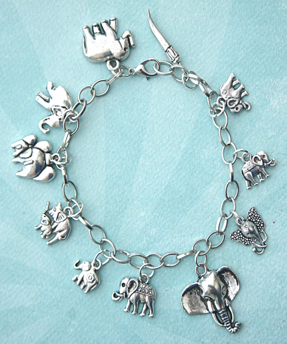 more yellow silver views infused charm elephant bracelet gold