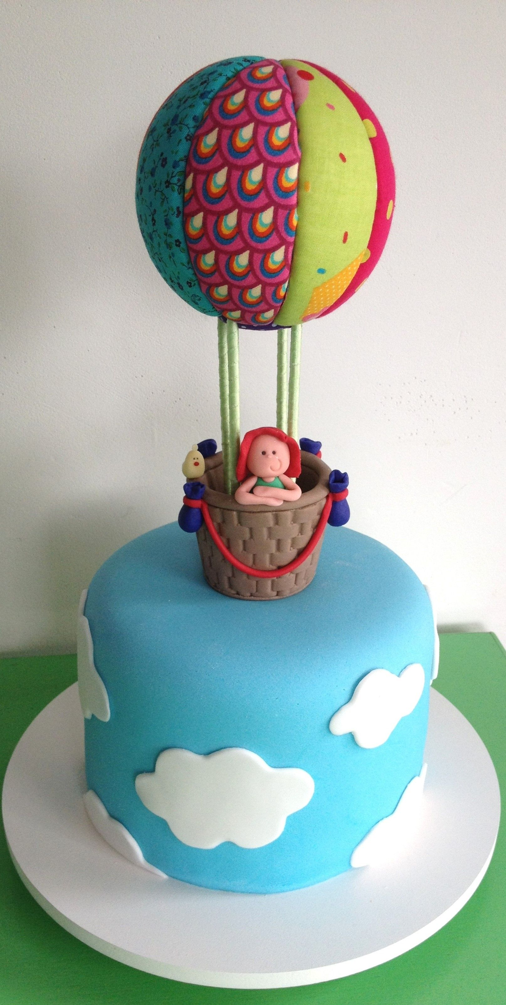 Hot Air Balloon Birthday Cake Thecakeisonthetable
