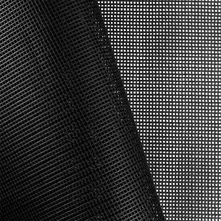 Black 9x9 Vinyl Coated Mesh Fabric Mesh Fabric Fabric Mesh