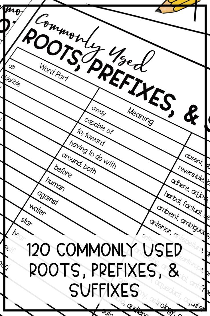 120 Root Words, Prefixes, and Suffixes PDF List in 2020