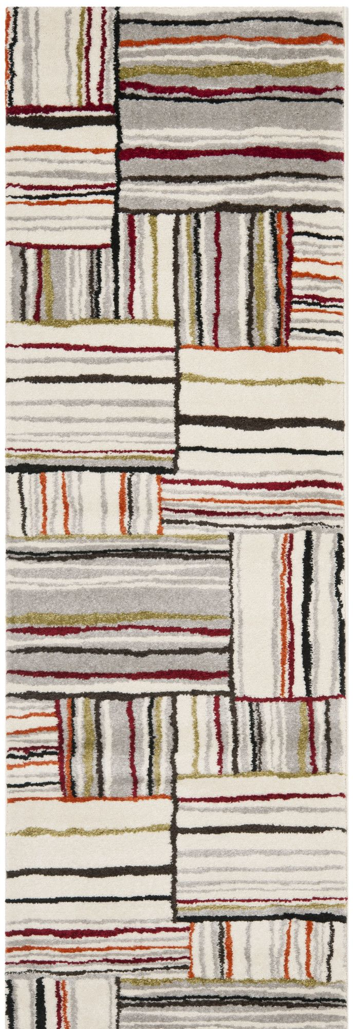 Ilene Beige/Red Area Rug