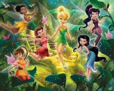 Disney Fairies (Disney Fairies) - Walltastic Wallpapers - A mural