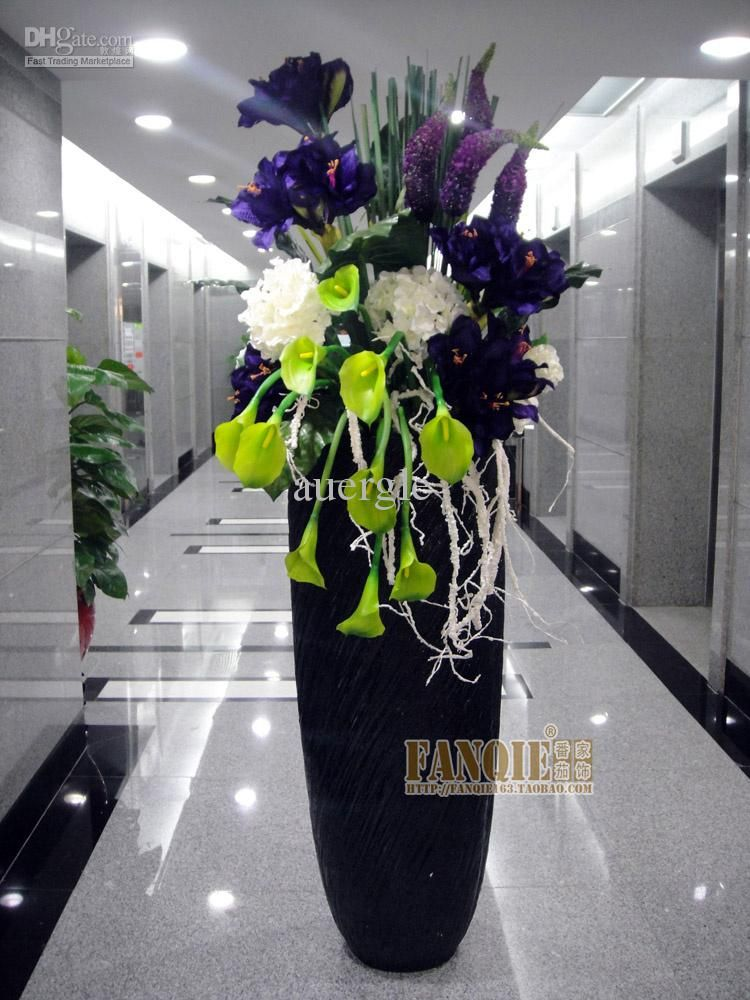 Modern fashion decoration floor vase set flowers for Floor vase with flowers