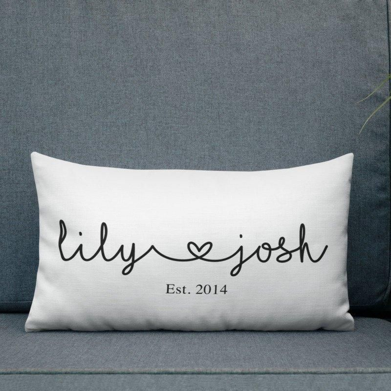 Personalized Couple Pillow Personalized Couple Pillow Bedroom Decoration couple bedroom decor