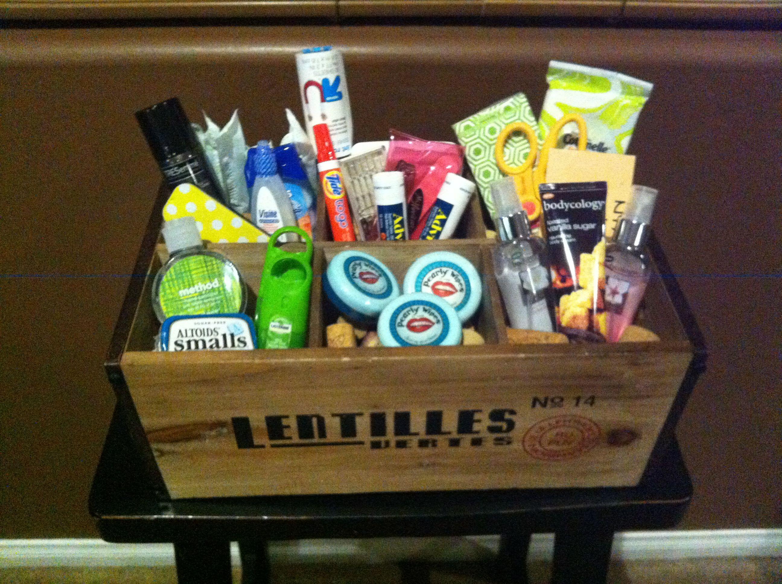 Wedding bathroom basket   Bachelorette Party   Pinterest   Wedding ...