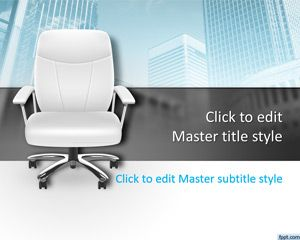 3014-office-chair-powerpoint-template | ppt templates | pinterest, Modern powerpoint