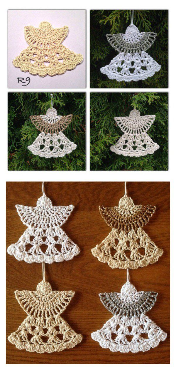 Christmas Angel Ornaments Free Crochet Pattern | Pinterest | Angel ...