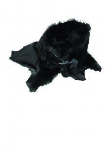 Delusion Toscana Fur Scarf Black