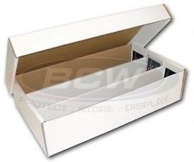 Lot Of 1 New Bcw 3000 Count Super Shoe Box Cardboard Storage
