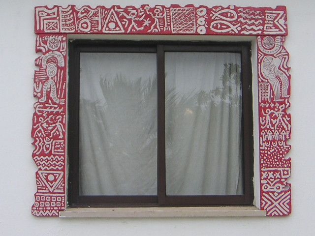 moldura de janela em pedra