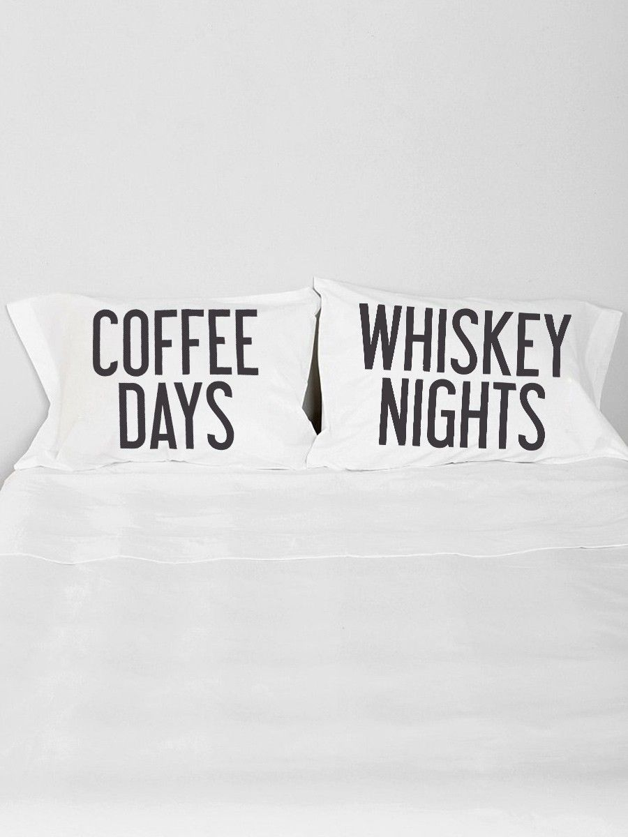 Coffee and whiskey pillow case set gypsy warrior for the home
