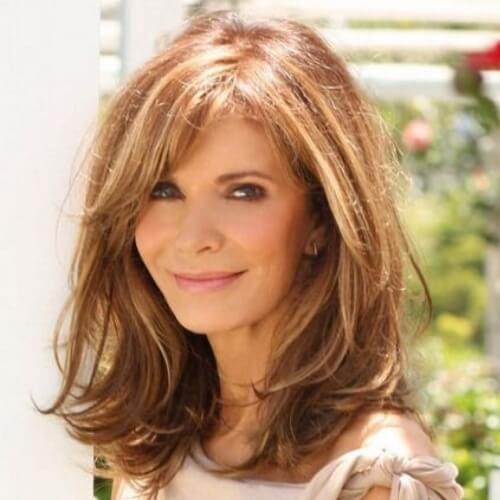 Medium Length Hairstyle For Older Women Long Layered Hair Hair Styles Medium Length Hair Styles