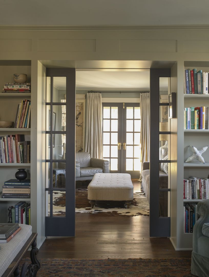 Interior sliding pocket french doors - 1929 Farmhouse Renovation Sharon Ct By Rafe Churchill Attach To Inner Hallway On Rollers