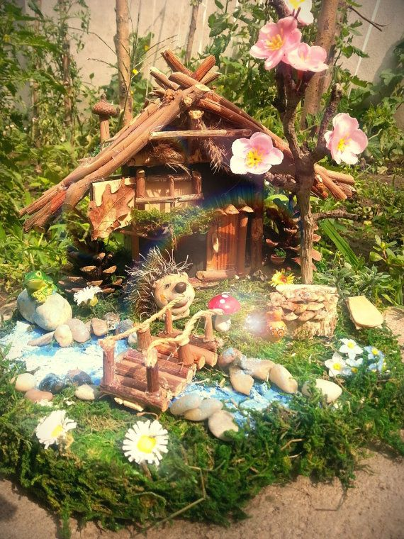 Fairy housefairy garden table decor garden miniatures by Youmagic