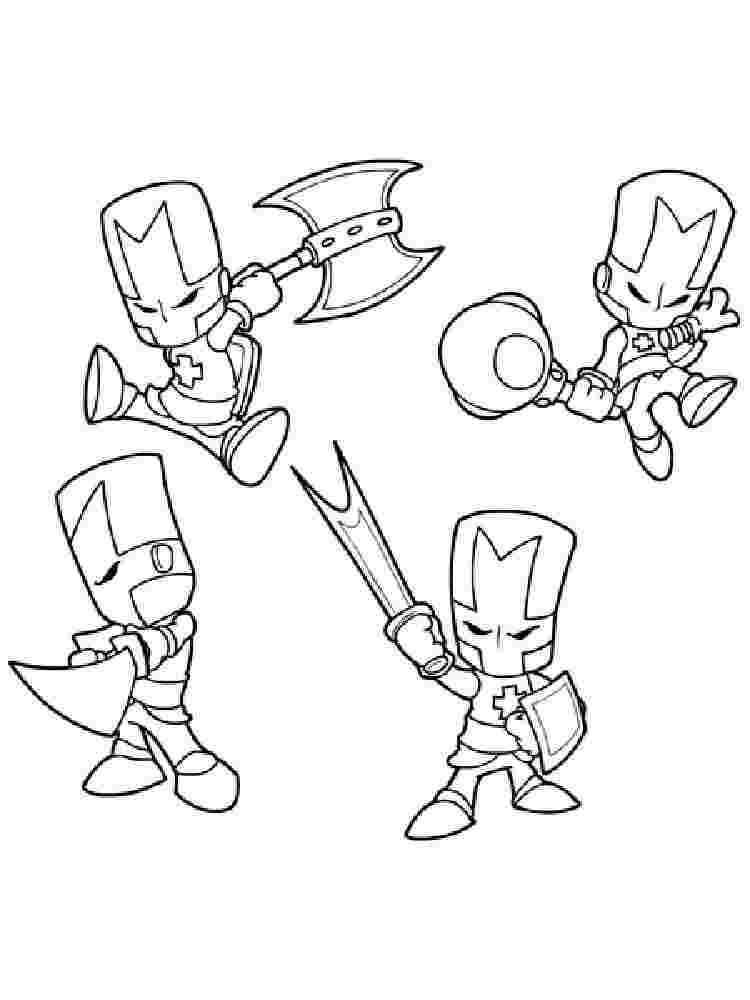 Castle Crashers Coloring Pages Castlecrashers