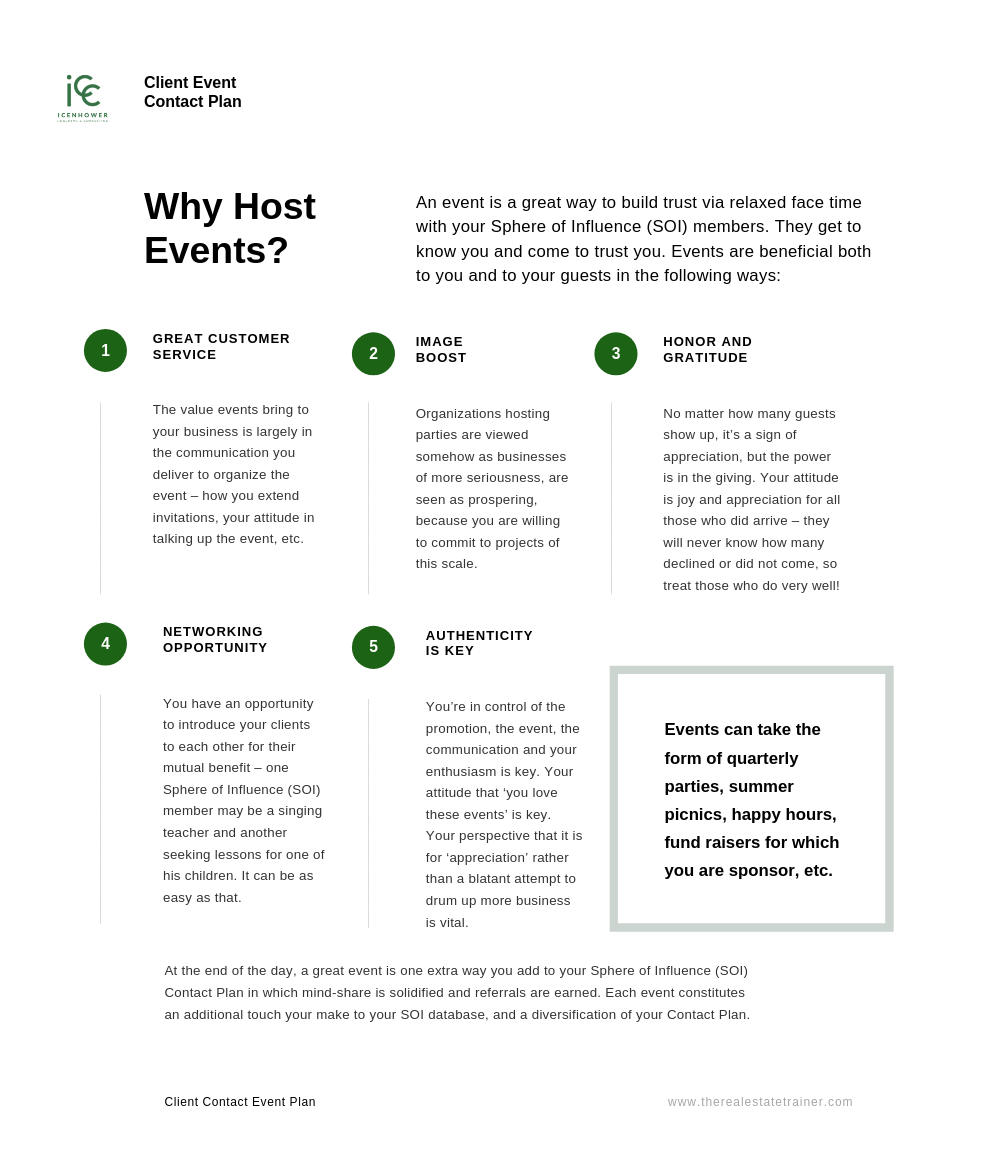 Check out our plan to maximize client events to increase