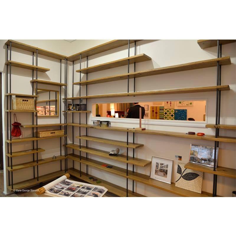 tag re murale en bois et acier sur mesure craft ideas. Black Bedroom Furniture Sets. Home Design Ideas