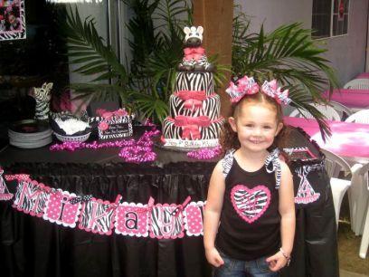 Zebra 4th Birthday Party 1st Bday party ideas Pinterest
