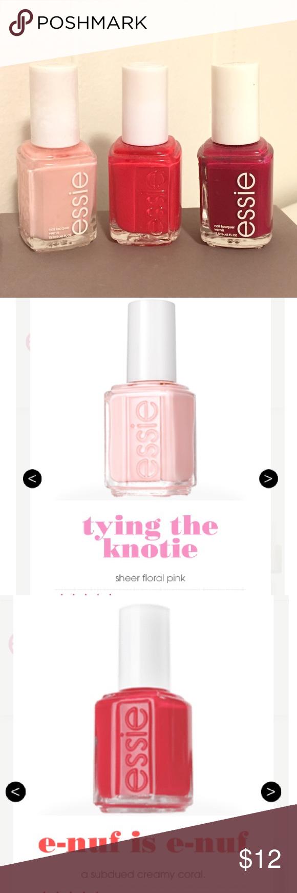 Brand new set of 3 Essie nail polishes Brand new 3 different Essie ...