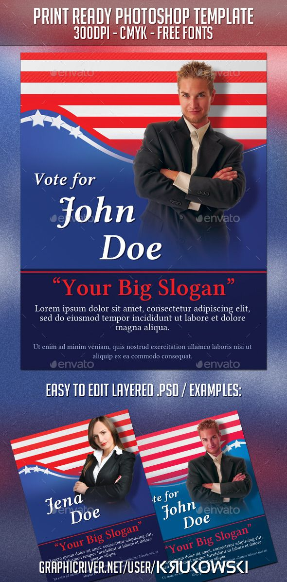 political election flyer photoshop psd political american available here httpsgraphicrivernetitempolitical election flyer 9308360refpxcr