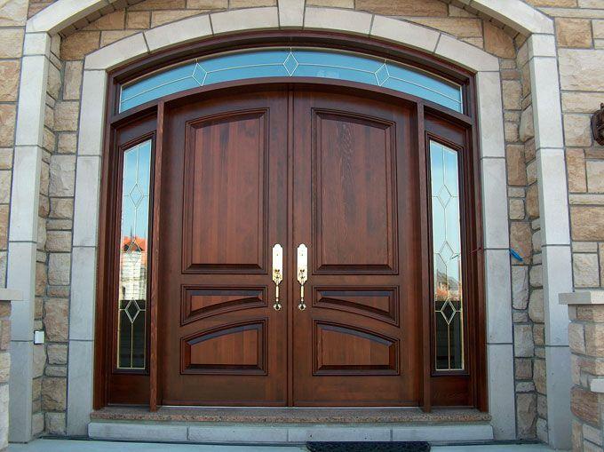 Exterior Wooden Doors Portes Dentrée En Bois WwwPortesBourassa - Double porte d entrée