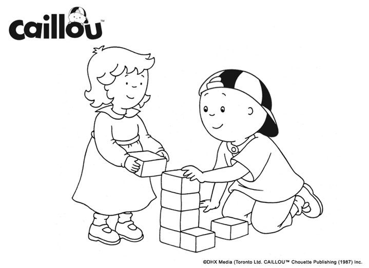 Caillou Friendship Fun: Playtime with Rosie! | Caillou Coloring ...