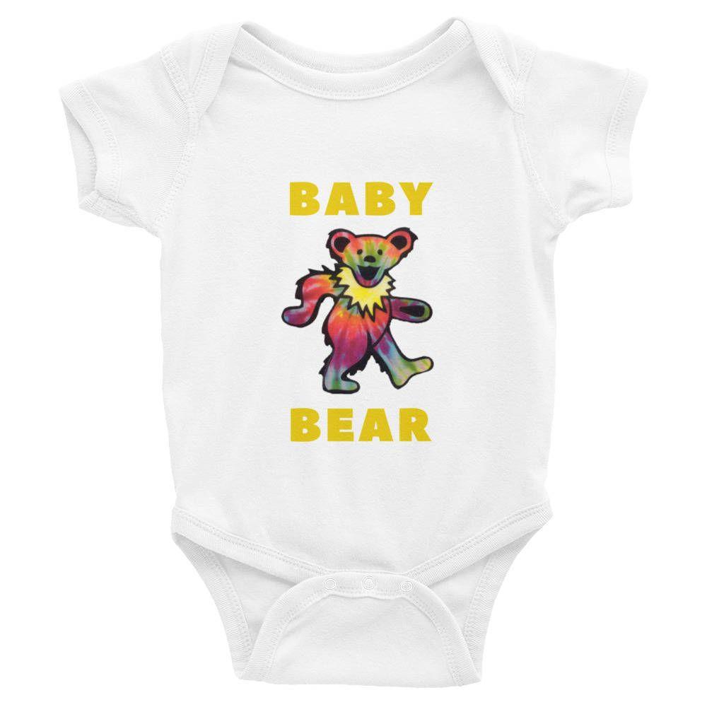 Grateful Dead Baby Bodysuit Dead Head Baby Shower Gift Dancing Bear Kids Shirt