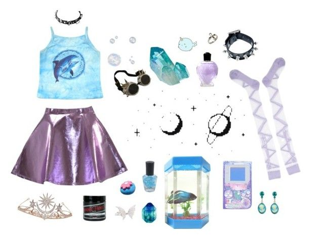 """""""Sea Prinx"""" by abbygee12 ❤ liked on Polyvore featuring Forever 21, Tarina Tarantino, Dream Collective, Bolle, Anna Sui, Dsquared2, Manic Panic and Stephen Webster"""