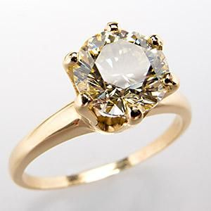1.6 Ct Fancy Light Yellow VVS Diamond Engagement Ring