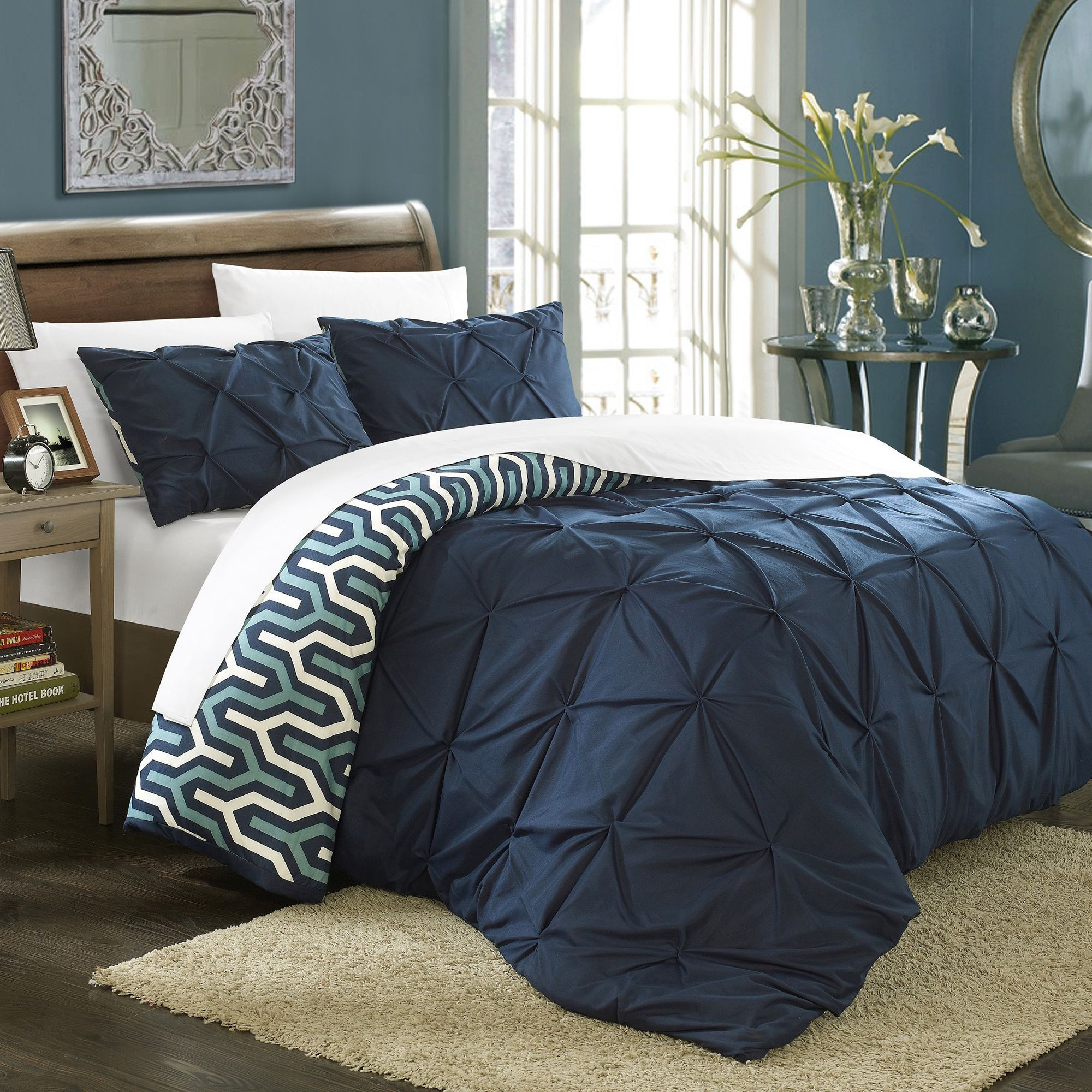 shop piece white pinch pleat product nica duvet image pintuck cover of nordstrom pleated set