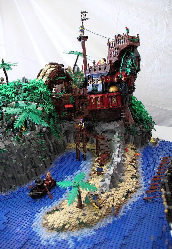 Turtle Island Shipwreck Tavern Lego Construction Pirate Lego Lego