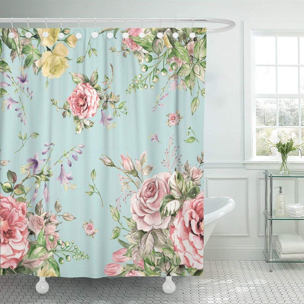 Amazon Com Emvency Fabric Shower Curtain Curtains With Hooks
