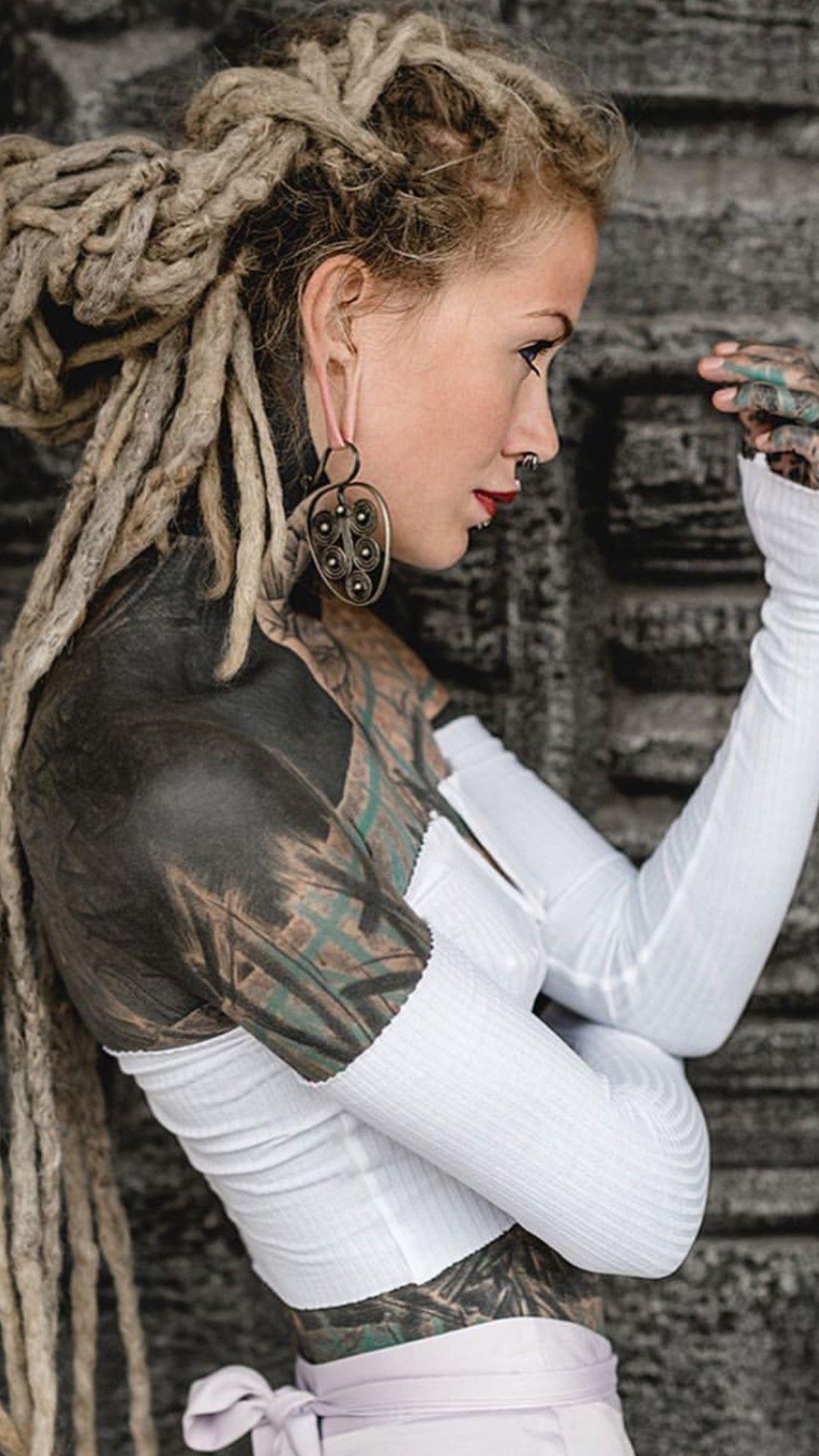 Anuskatzz   Dreads girl, Girl tattoos, Beautiful dreadlocks