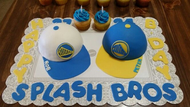 Golden State Warriors Hat Cake Used the Wilton Sports ball cake pan