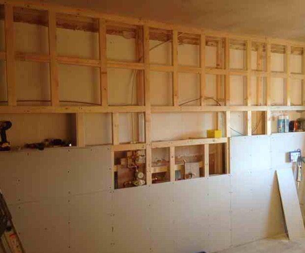 1st Fix - Studwork | Bathroom installation, Bathroom ...
