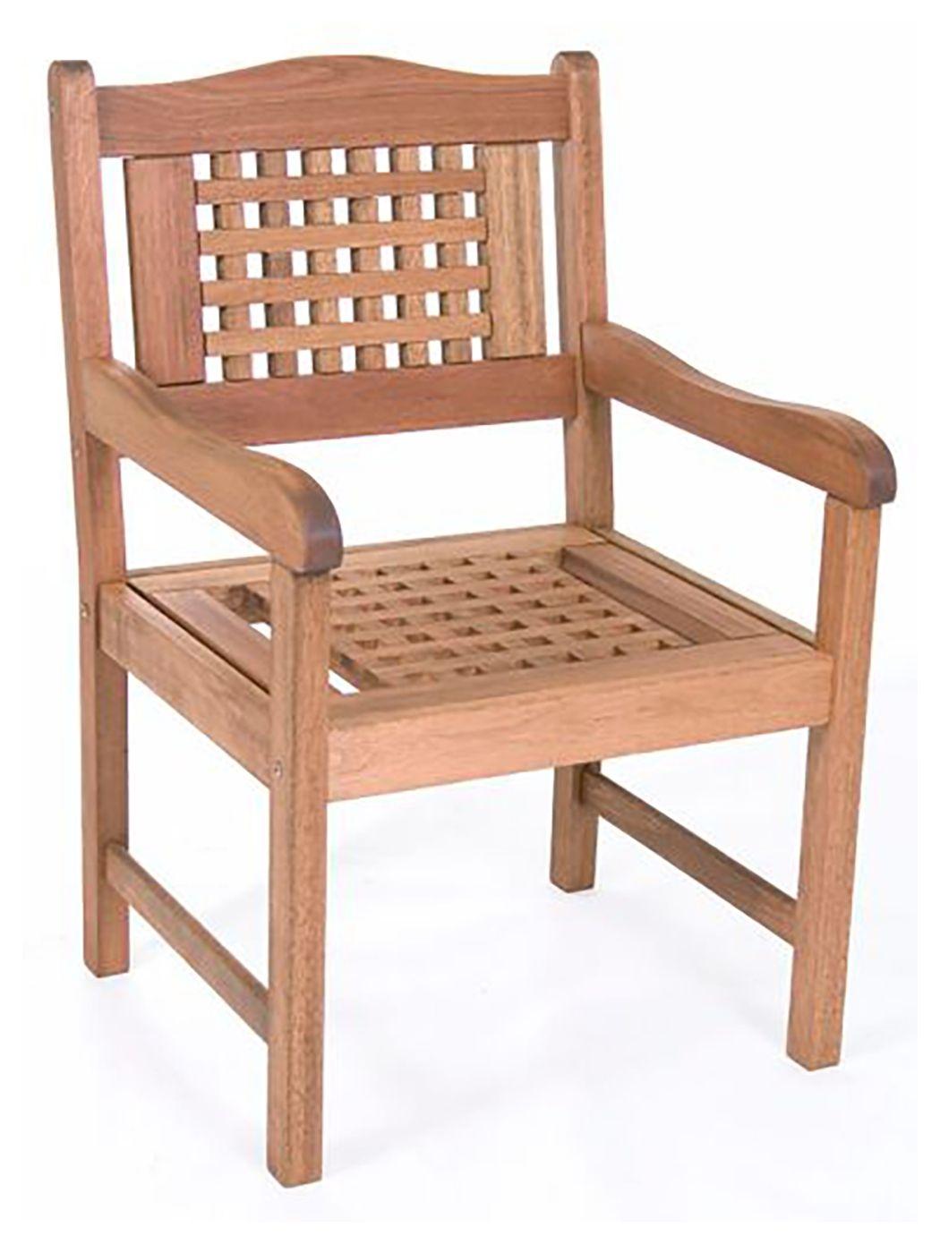 eucalyptus wood armchair ashley