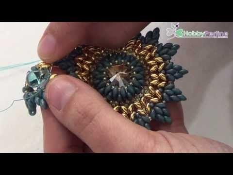 Best Seed Bead Jewelry  2017  Ciondolo Blue Sun | Tutorial  HobbyPerline.com