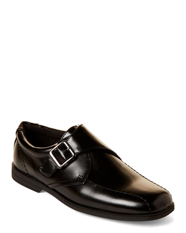 39c526ab2dfaf Scott David (Toddler/Kids Boys) Black Theo Monk Strap Shoes ...