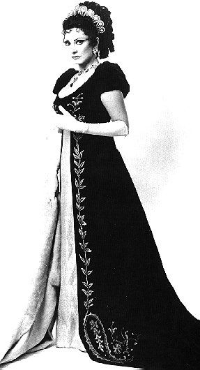 Soprano Anna Moffo in the title role of Puccini's Tosca.