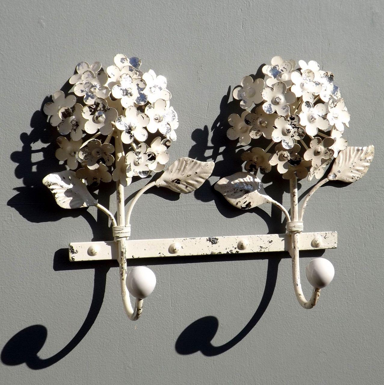 Large Double Hydrangea Flowers Coat Hook Rack Flower Coat Hydrangea Flower Hydrangea