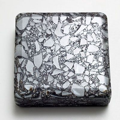 Industrial sleek from your curbside recycling bin: Cool Titanium by  Vetrazzo (cement and recycled glass)