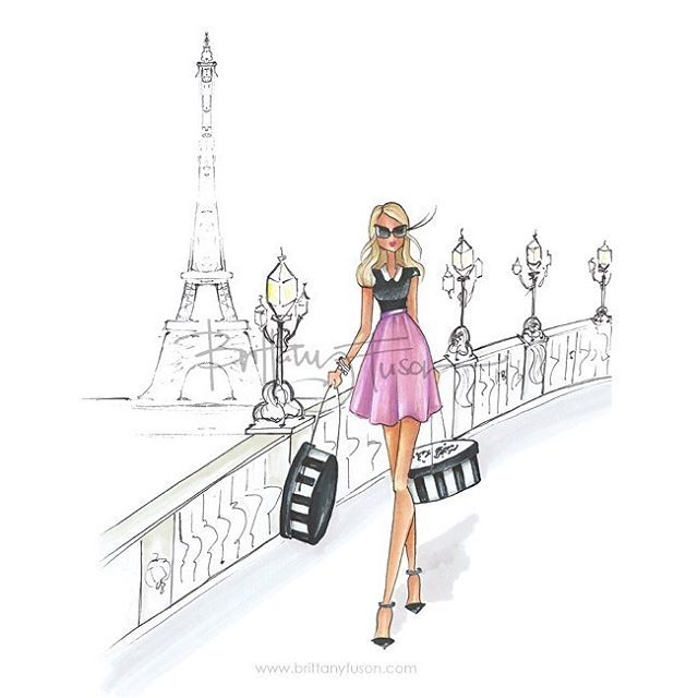 Dreaming of coffee, crépes, and Chanel // this girl is now available as a print just in time for Valentine's Day #paris