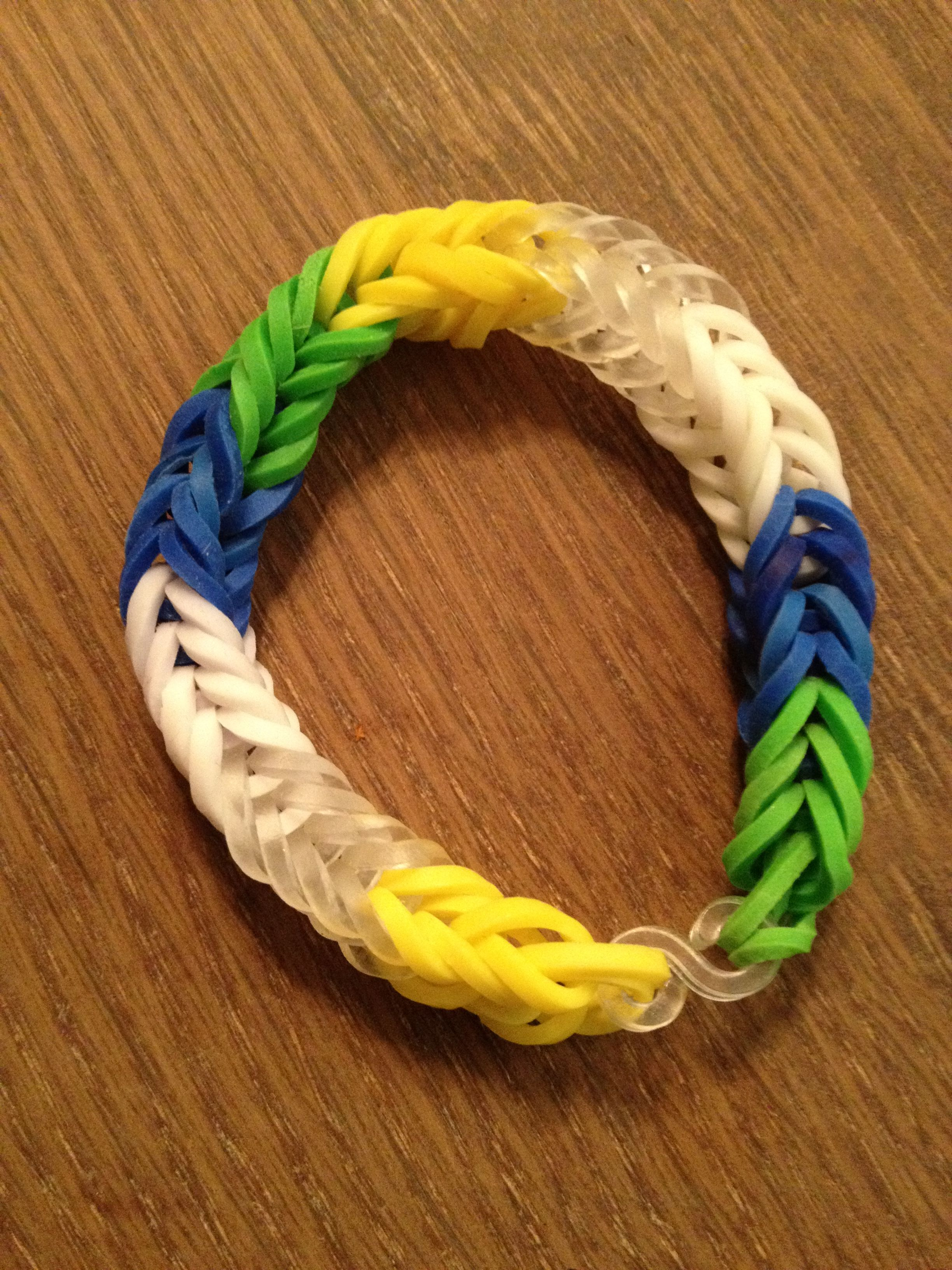 A Fishtail Rainbow Loom Bracelet To Represent The Water Cycle Yellow Is The Sun That Powers The