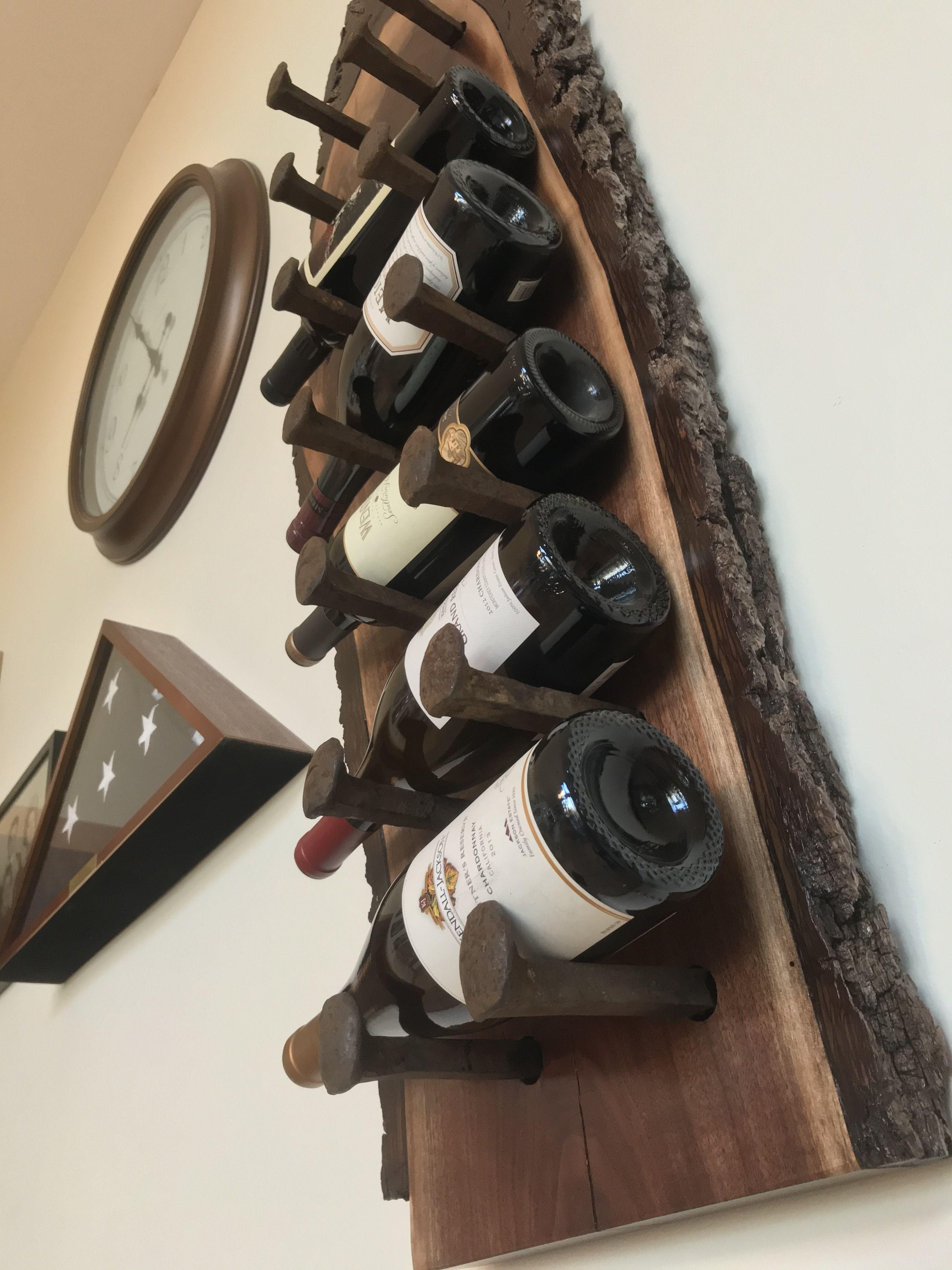 live edge wine rack wall mounted wine