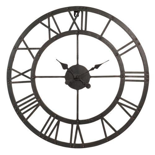 Maison Du Monde Horloge En Métal D 60 Cm Edison Horloge