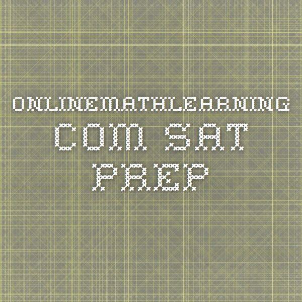 Onlinemathlearning Sat Prep Sat Prep Math Pinterest Math