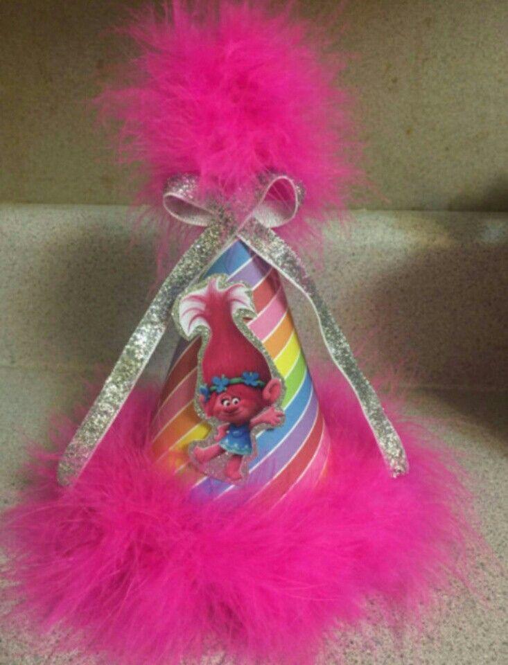 Princess Poppy Birthday Hat | Spunky Little Poppy Birthday Cakes and ...