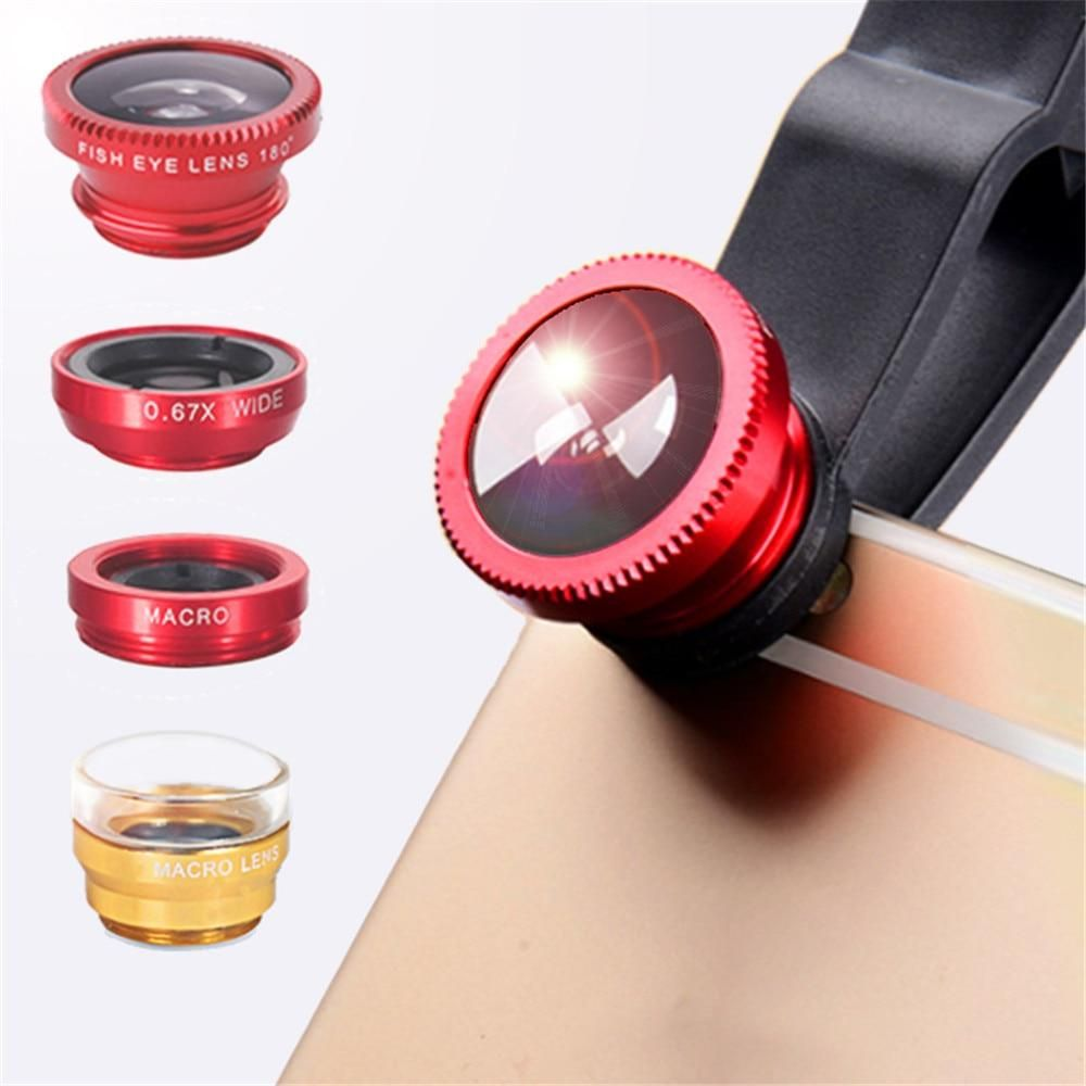 phone lens Fisheye 0.67x Wide Angle Zoom lens fish eye 6x macro lenses Camera Kits with Clip lens on the phone for smartphone #wideangle