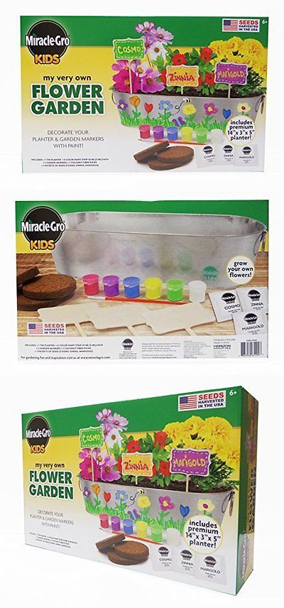 b9f9bae3f Craft Kits 116655: Miracle Gro Kids My Very Own Flower Garden Kit Childrens  Arts Crafts Kits, New -> BUY IT NOW ONLY: $56.33 on eBay!